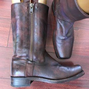 Frye Zip Boots 9.5B Women's
